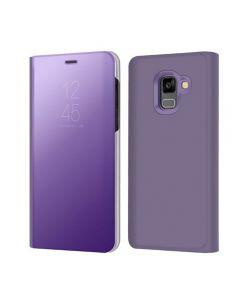 Husa Flip Stand Mirror,Clear View Light, Samsung Galaxy A8 Plus 2018, Black Saphire