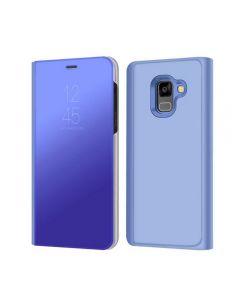 Husa Flip Stand Mirror,Clear View Light, Samsung Galaxy A8 2018, Blue