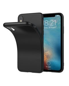 Husa iSilicon, Ultra Slim, Jelly pentru iPhone X, Matte Black
