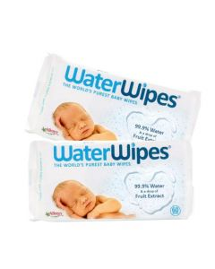 Pachet PROMO 2 x Servetele umede pentru bebelusi Water Wipes - 60 buc