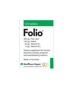 Folio, Acid folic, 995, 120 tablete