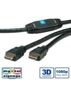 CABLU HDMI HIGH SPEED CU REPEATER T-T 30M 3D, ROLINE 14.01.3465