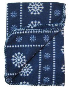 Patura polar imprimata, PPB05 albastru/fulgi, Primii Pasi