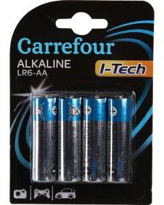 Set x 4 baterii LR6 AA I-Tech, Carrefour