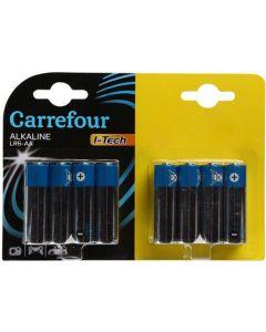 Pachet economic 16 baterii AA/LR6 I-Tech, Carrefour