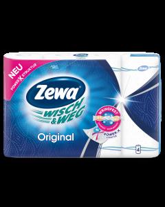 Role bucatarie Zewa Wisch&Weg Original 2 straturi, 4 role