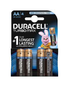 Set x 4 baterii AA LR6 Turbo Max , Duracell