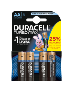 Set x 4 bateri AA TurboMax, Duracell