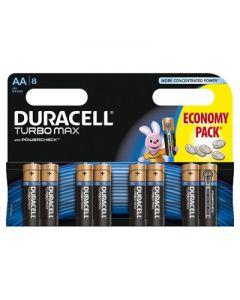 Set x 8 baterii AA LR6 Turbo Max, Duracell