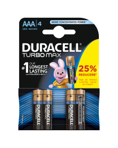 Set x 4 bateri AAA TurboMax, Duracell