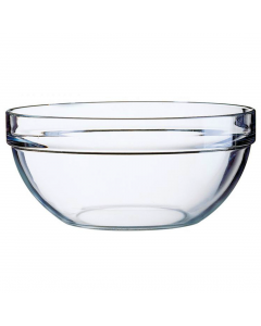 Bol 14 cm suprapozabil sticla transparenta