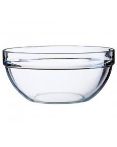 Bol 23 cm suprapozabil sticla transparenta