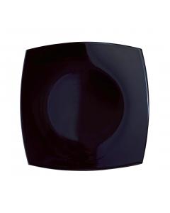 Farfurie intinsa 19 cm, Opal Quadrato, negru