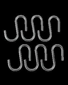 Set 6 carlige cromate