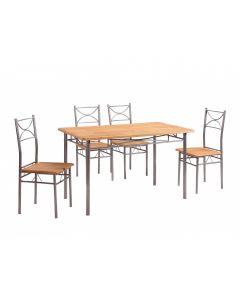 Set masa Vera cu 4 scaune Natur
