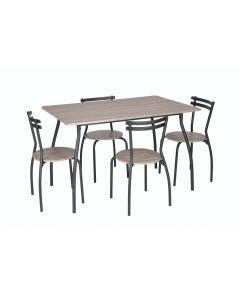 Set masa Vega cu 4 scaune stejar antichizat