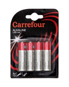 Set x 4 baterii AA, Carrefour