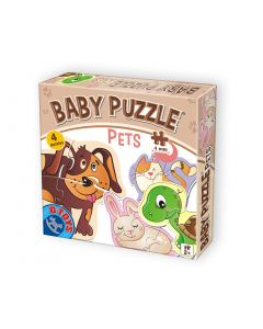 Baby puzzle Animale favorite - 2,3,4 piese