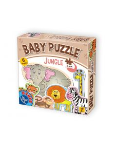 Baby puzzle Animale din jungla - 2,3,4 piese