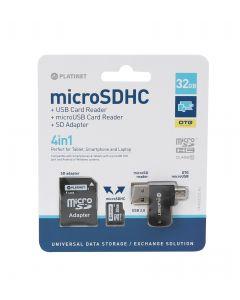 Platinet MicroSD 4 in 1 32GB