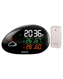 Statie meteo SWS 5200 Sencor, indicator de confort interior, suporta pana la 3 senzori