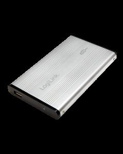 "Rack extern 2.5"", USB 2.0, IDE, Silver, LogiLink UA0040A"