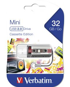 Verbatim Mini Usb Drive Cassette Edition Black 32Gb