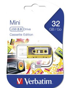 Verbatim Mini Usb Drive Cassette Edition Yellow 32Gb