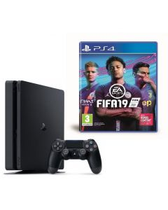 Consola PlayStation 4 Slim 500GB Negru + Joc FIFA 19