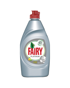 Detergent de vase Fairy Platinum Lemon & Lime, 430 ml