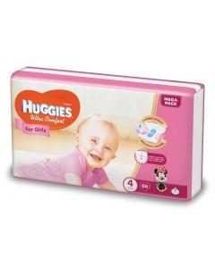 Scutece Huggies Ultra Comfort, nr 4, 8-14 kg, Mega, 66 buc, pentru fetite