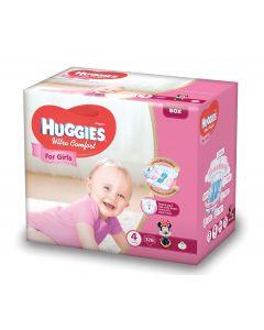 Scutece Huggies Ultra Comfort, nr 4, 8-14 kg, Box, 126 buc, pentru fetite
