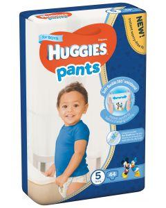 Scutece chilotel Huggies Pants, nr 5, 12-17 kg, Mega, 44 buc, pentru baieti