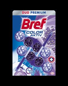 Odorizant toaleta Bref Purple Aktiv Lavanda, 2x50 gr