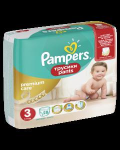 Scutece-chilotel Pampers Premium Care Pants, Marime 3, 6-11 kg, 28 buc