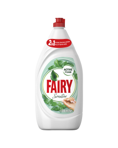 Detergent de vase Fairy Sensitive Teatree & Mint, 1.3 L