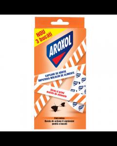 Capcane de hartie antimolii alimente Aroxol, 3 buc