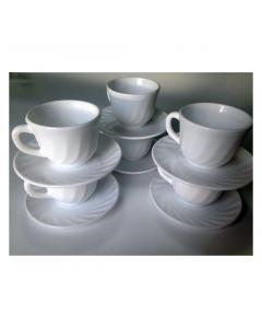 Set cafea 12 piese opal alb