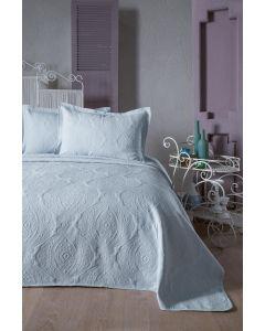 Cuvertura Jacquard, 250x260 cm, + 2x fata perna, Sterling Blue