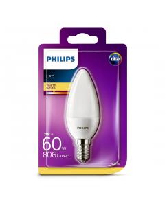 Bec Philips Led B35 60W E14 2700K MAT