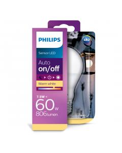 Bec Philips Led A60 60W E27 MAT SENZOR