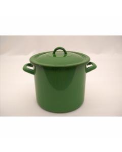 Oala email 24cm/7.5l +capac, verde