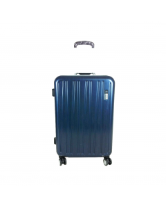 Troler ABS 67 cm, 4 roti, albastru, Carrefour