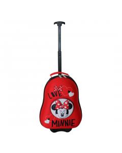 Troler Minnie 3D 38 cm, rosu, Carrefour