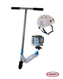 Stunt Scooter + casca + camera