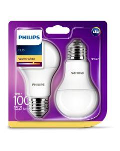 Bec Philips Led A60 100W E27 M 2700K X2