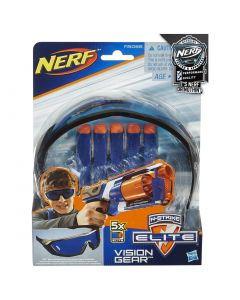 Set N-STRIKE ELITE Ochelari Vision Gear si 5 proiectile Elite, Nerf