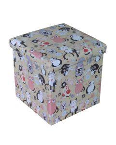 Taburet Design 38x38 cm, Cats