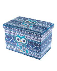 Taburet Design 48x32 cm, Blue Owl