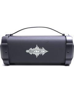 Boxa portabila bluetooth The Vibe 200 E-boda, Intrare AUX, MicroSD, Radio FM, MicroUSB, Negru